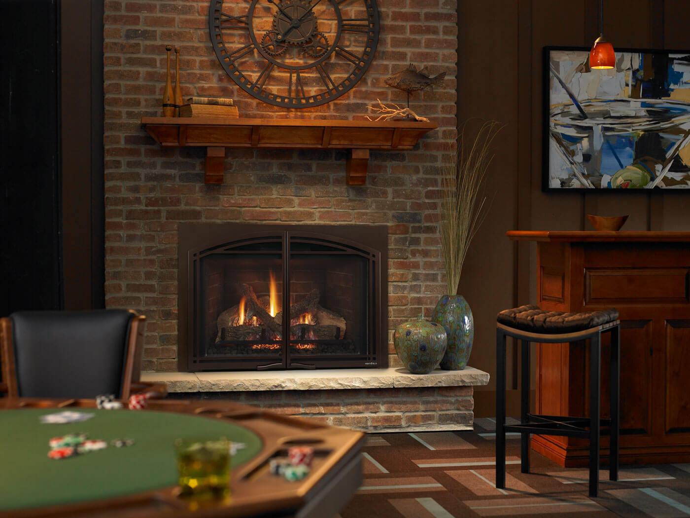 po les et foyers keystone insert gaz naturel propane. Black Bedroom Furniture Sets. Home Design Ideas
