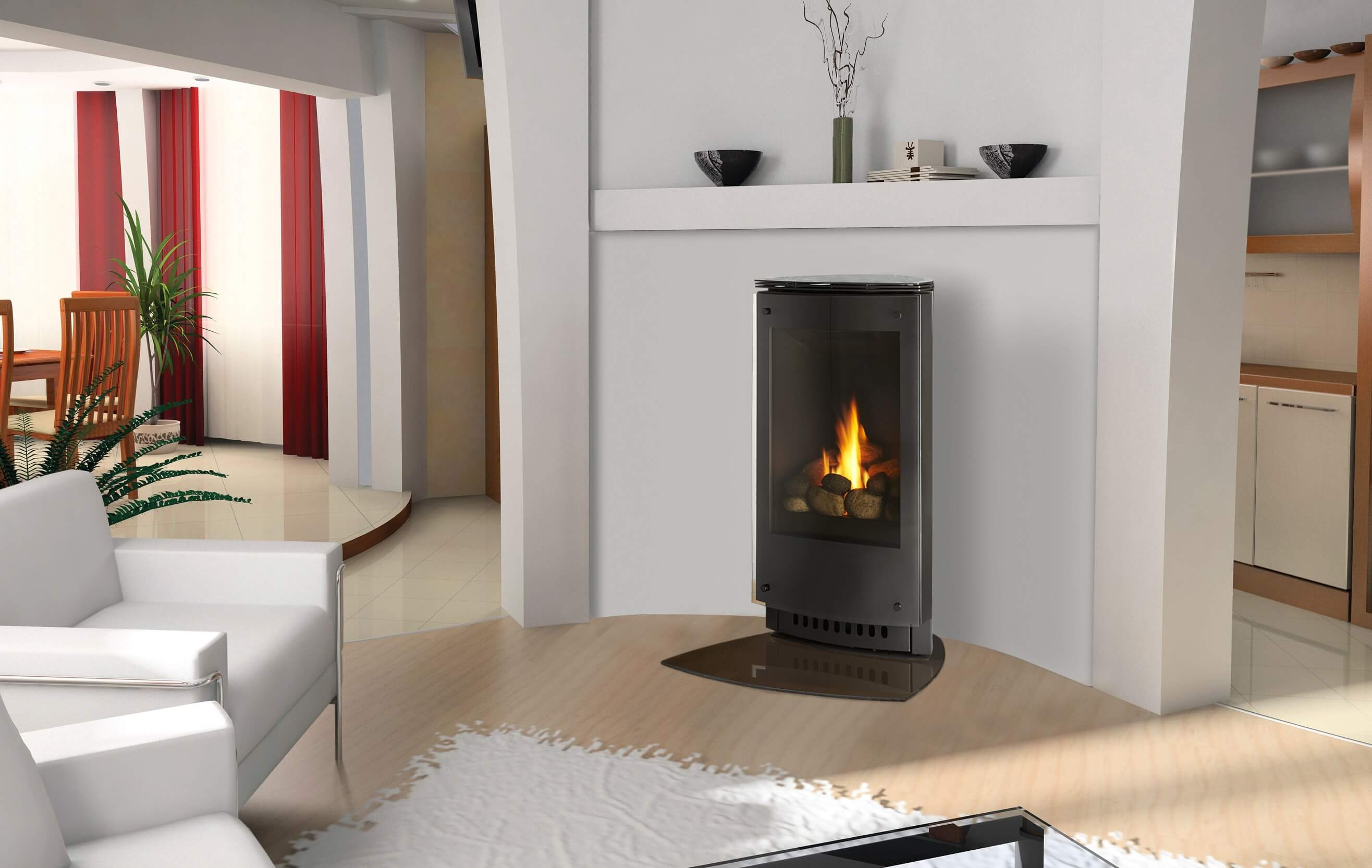 po les et foyers keystone gaz naturel propane. Black Bedroom Furniture Sets. Home Design Ideas