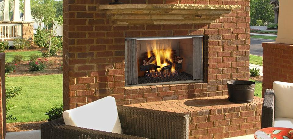 Grand Foyer Exterieur : Poêles et foyers keystone aux bois extérieur