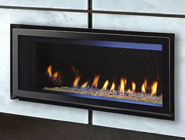 Corner Gas Ventless Fireplace