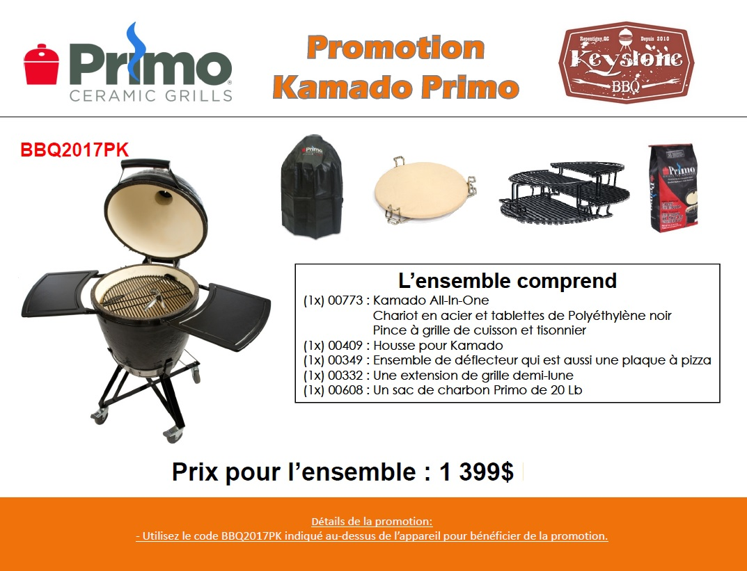Promotion Grill Primo Kamado All in one