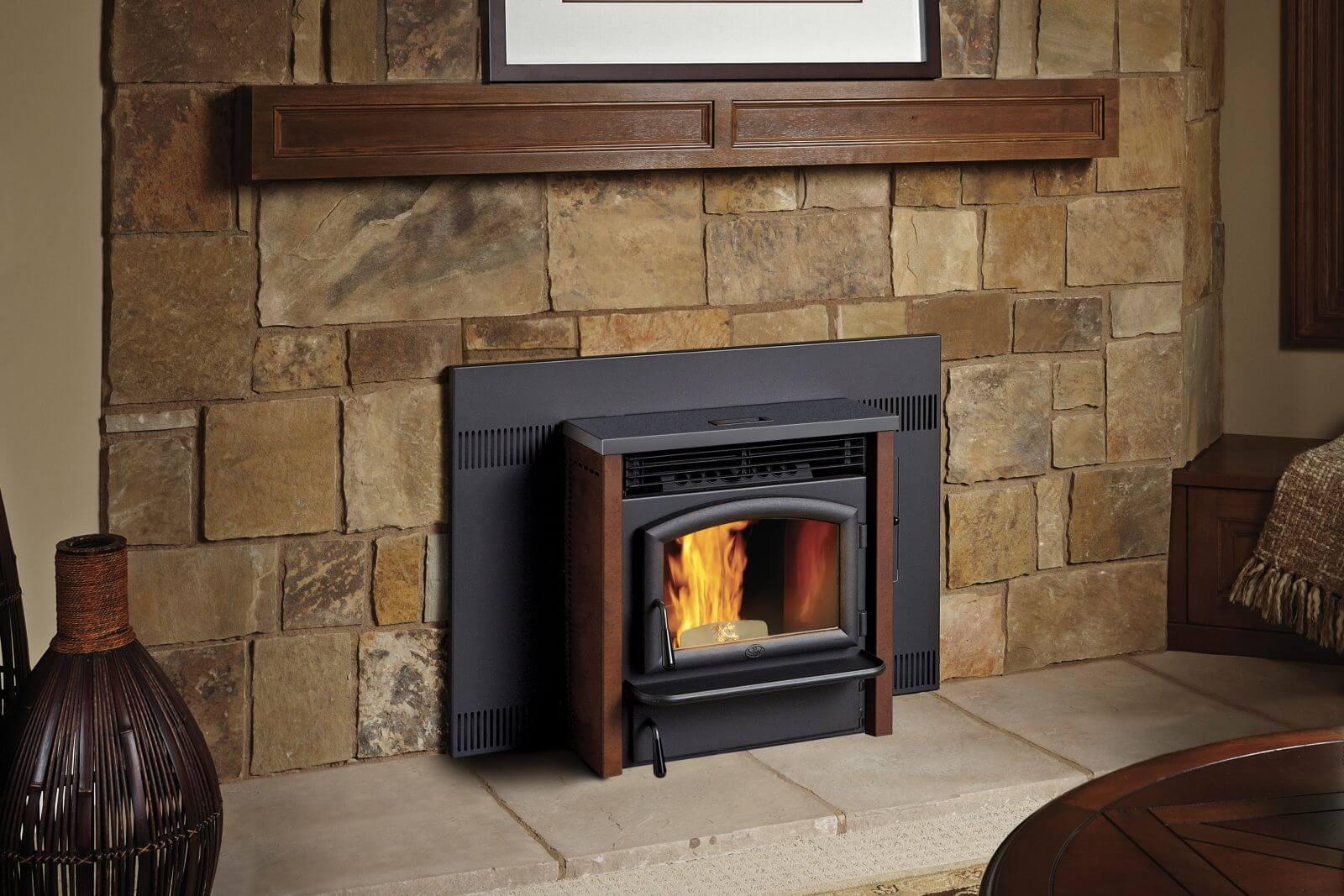 po les et foyers keystone insert granule de bois. Black Bedroom Furniture Sets. Home Design Ideas
