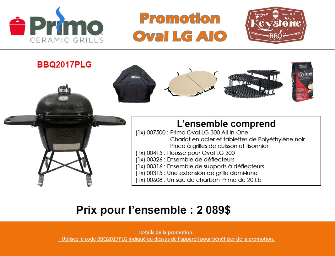 Promo Primo Grill Oval Large All in One