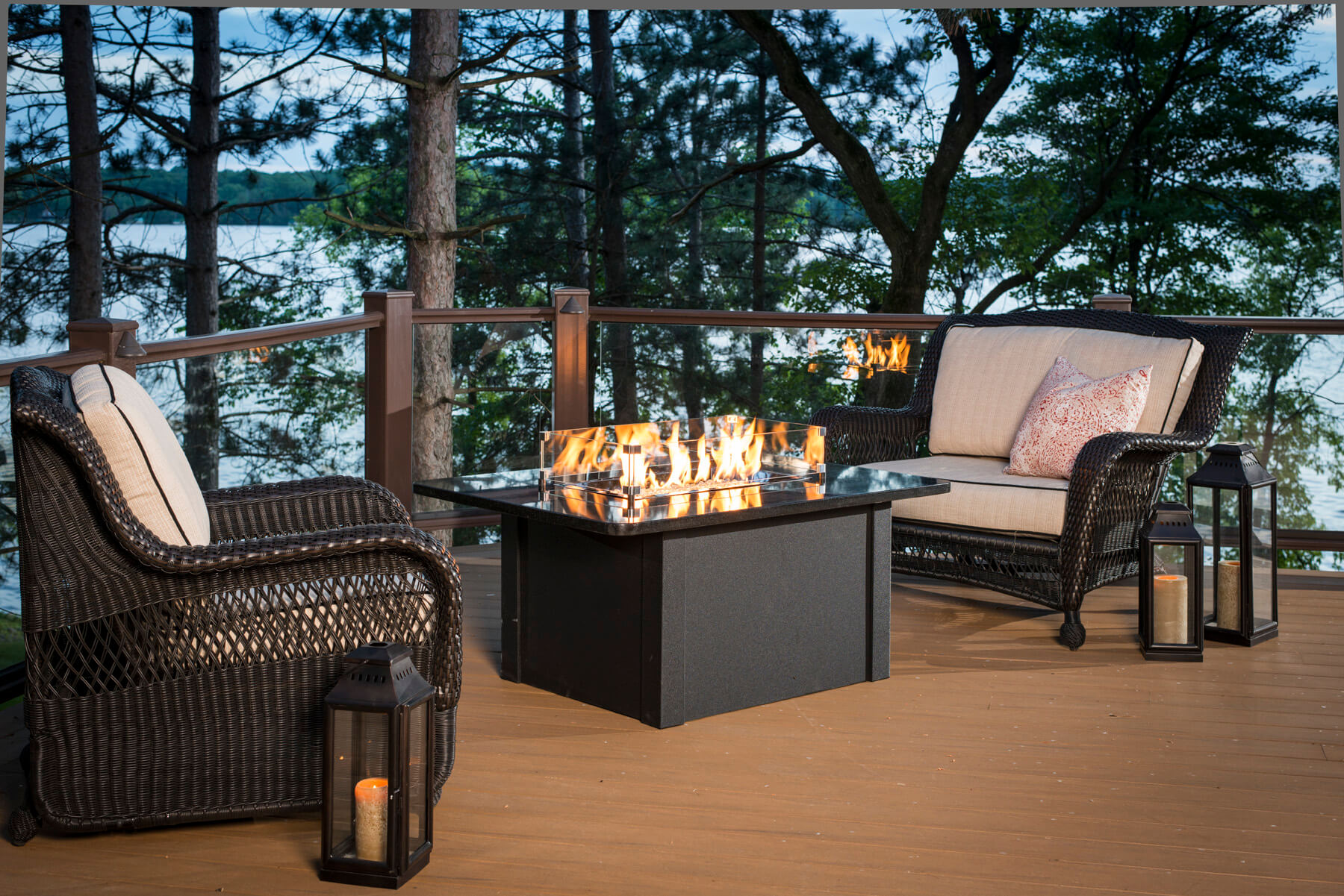 Table Foyer Extérieur : Poêles et foyers keystone table de feu extérieur haut