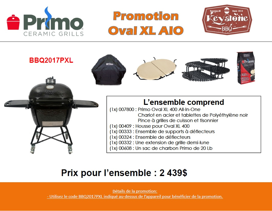 Promo Primo Grill Oval XL400 All in One
