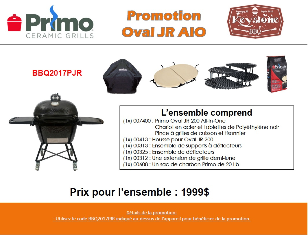 Promotion Grill Primo Oval JR All in one